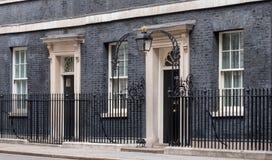 ?u?eres von 10 Downing Street, von Amtssitz und von Amt des Ministerpr?sidenten Gro?britanniens stockbild