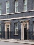?u?eres von 10 Downing Street, von Amtssitz und von Amt des Ministerpr?sidenten Gro?britanniens stockbilder