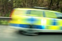U Falta de definición del coche policía de K Fotos de archivo libres de regalías