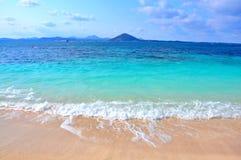 Mar puro na ilha de Udo, Coreia do Sul Foto de Stock Royalty Free