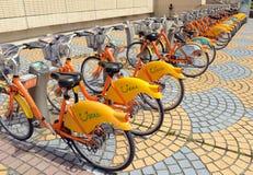 U font du vélo, un programme de part de bicyclette à Taïpeh photos stock