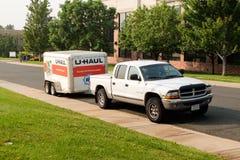 U-Haul cargo trailer Royalty Free Stock Image