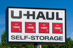 U-Haul Self Self Storage Sign and Trademark Stock Images