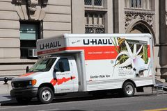 U-Haul truck Royalty Free Stock Photo