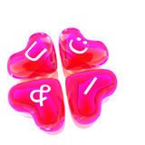 U&I heart balloon colored red Royalty Free Stock Photo