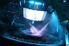 U2 i konsert Arkivbild