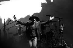 2017 U2 Joshua Tree World Tour-30th Anniversary. 30th Anniversary world reunion of mega-rock band U2`s Joshua Tree album at East Rutherford New Jersey on June 28 royalty free stock image