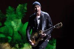 2017 U2 Joshua Tree World Tour-30th Anniversary. 30th Anniversary world reunion of mega-rock band U2`s Joshua Tree album at East Rutherford New Jersey on June 28 stock image