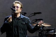 2017 U2 Joshua Tree World Tour-30th Anniversary. 30th Anniversary world reunion tour of mega-rock band U2`s Joshua Tree album at East Rutherford New Jersey on royalty free stock image