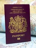 U K Paspoort Royalty-vrije Stock Afbeeldingen