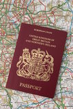 U.K. Passaporte Fotos de Stock Royalty Free
