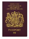 U.K Passport Stock Photo
