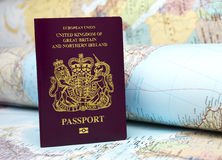 U.K Passport Stock Images