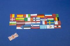 U K unión europea de las hojas Fotos de archivo