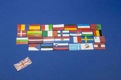 U k Union européenne de feuilles Photos stock