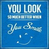 U kijkt zo veel Beter wanneer u glimlacht Stock Fotografie