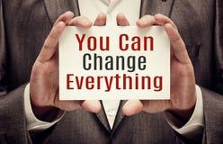 U kunt alles veranderen Stock Fotografie