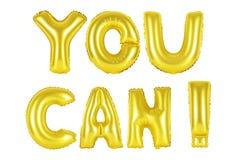 U kunt, gouden kleur Stock Fotografie