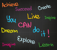 U kunt het doen! stock illustratie