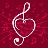 'U maakt mijn hart' affiche zingen Stock Afbeelding