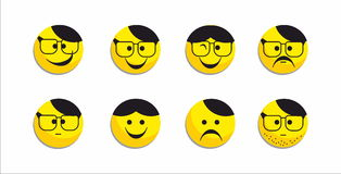 Uśmiech ikona Obrazy Stock