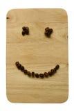 Uśmiech Kawowe fasole Obraz Stock