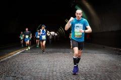 Uśmiech maraton atleta Zdjęcie Stock