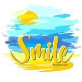 uśmiech Motywacyjna karta Zdjęcie Stock