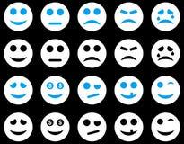 Uśmiechu i emoci ikony Zdjęcia Stock