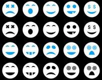 Uśmiechu i emoci ikony Obraz Royalty Free