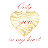 U in mijn hart Stock Afbeelding