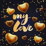 U mijn liefde - het van letters voorzien van het achtergrond bannerpatroon slogan vector illustratie