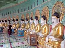 U Min Thonze Cave Sagaing Hill, Myanmar Fotografering för Bildbyråer