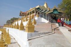U Min Thonze Cave Sagaing Hill, Myanmar Royalty Free Stock Photography