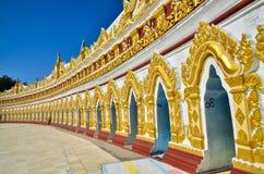 U Min Thonze Pagoda Arkivbilder