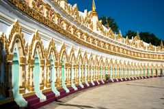 U Min Thonze Pagoda, Myanmar Royalty-vrije Stock Afbeelding