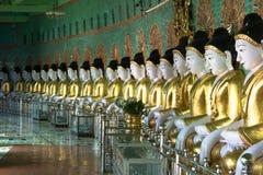 U Min Thonze Pagoda, Myanmar Royalty-vrije Stock Afbeeldingen