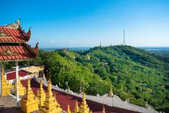U Min Thonze Pagoda, Myanmar Royalty-vrije Stock Foto