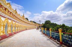 U Min Thonze Pagoda Stock Images