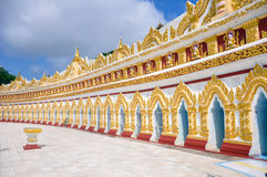 U min Thonze pagoda, Sagaing, Myanmar Royalty Free Stock Images