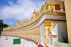 U min Thonze pagoda, Sagaing, Myanmar Stock Image