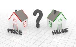 U moet kiezen: prijs of waarde stock illustratie