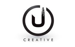 U muśnięcia listu loga projekt Kreatywnie Oczyszczony list ikony logo royalty ilustracja