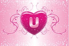 U in my heart Royalty Free Stock Photography