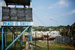 U.N. Checkpoint in Liberia Royalty Free Stock Photography