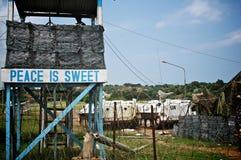 U.N. Punto de verificación en Liberia Fotografía de archivo libre de regalías