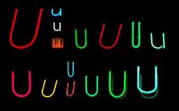 U-Neon-Zeichen Stockbilder