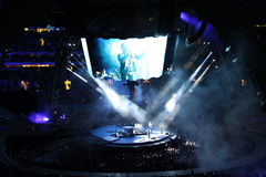U2 no concerto Foto de Stock Royalty Free