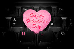 U och I - förälskelseför evigt - lyckliga valentin dag Arkivbild