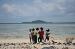 ` U pala общины Сабаха Bajau Стоковое фото RF